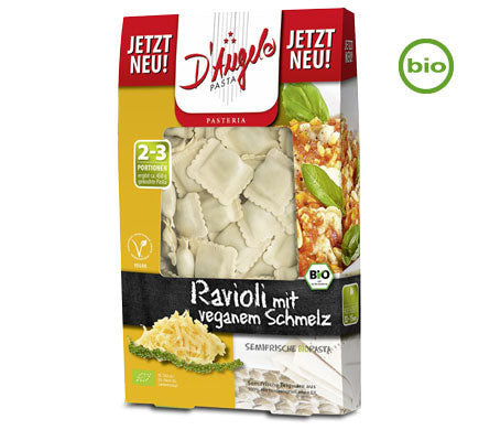 D'Angelo Organic Ravioli filled with Vegtable Cheese Melt