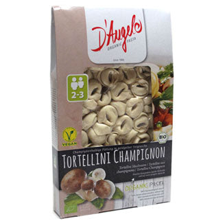 D'Angelo Organic Tortellini with Button mushrooms