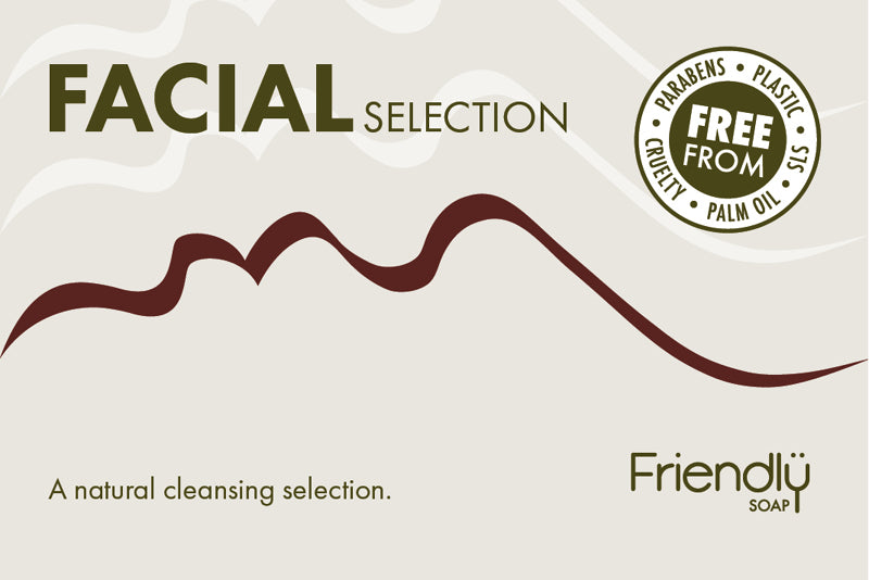Friendly Facial Cleasing Bar Selection Box - 4 bars per pack