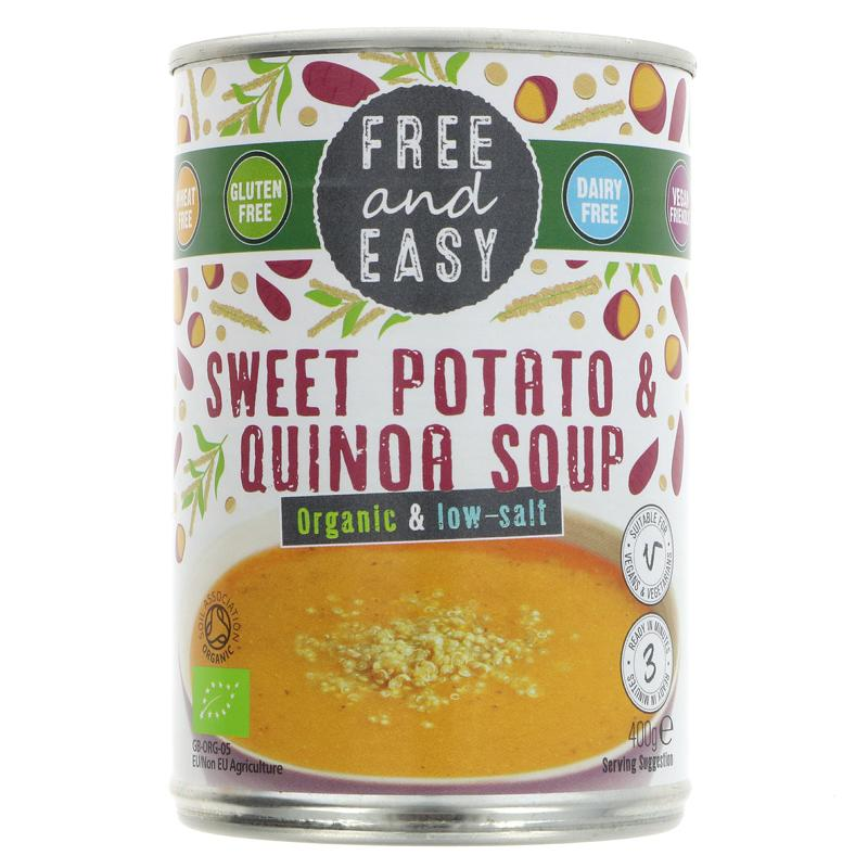 Free & Easy Sweet Potato and Quinoa Soup