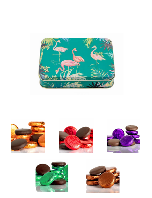 Vegan Store Gourmet Fondant Creme Selection Small Flamingo Tin 125g