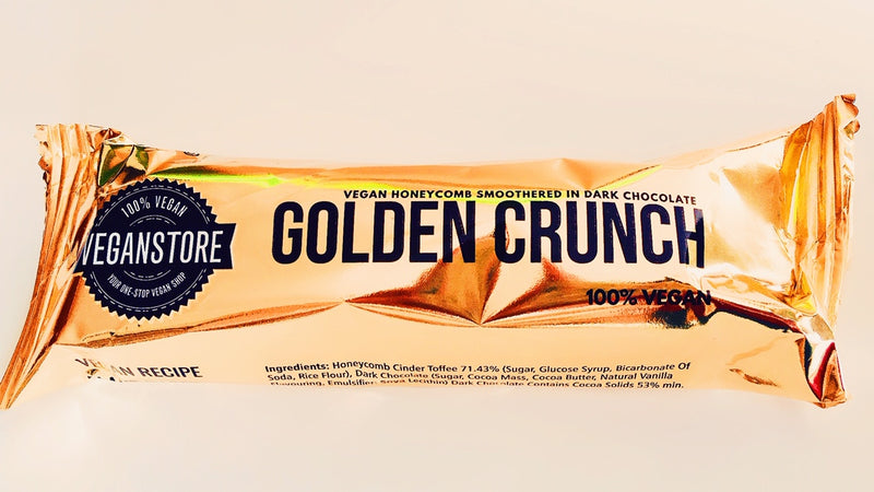 Vegan Store Golden Crunch Bar Dark Chocolate