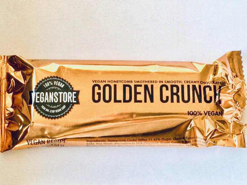 Vegan Store Golden Crunch Bar Vegan Milk Chocolate dated 07/11/2020