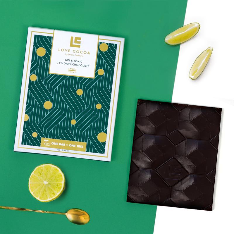 Love Cocoa Gin & Tonic Dark Chocolate Bar