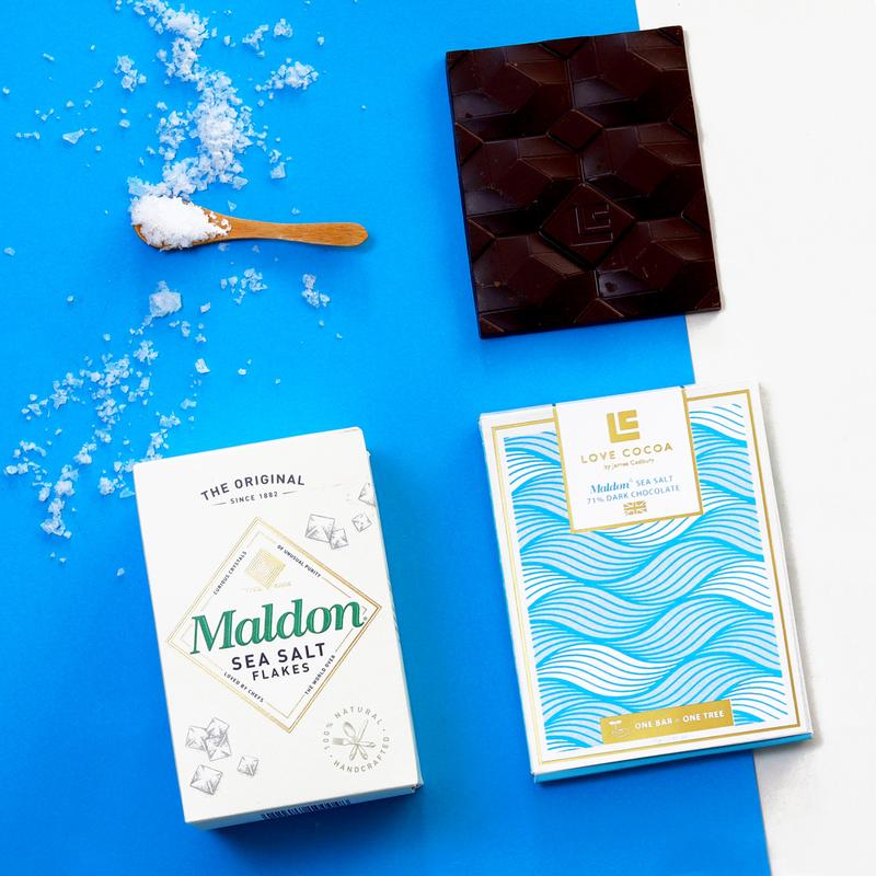 Love Cocoa Maldon Sea Salt Dark Chocolate Bar