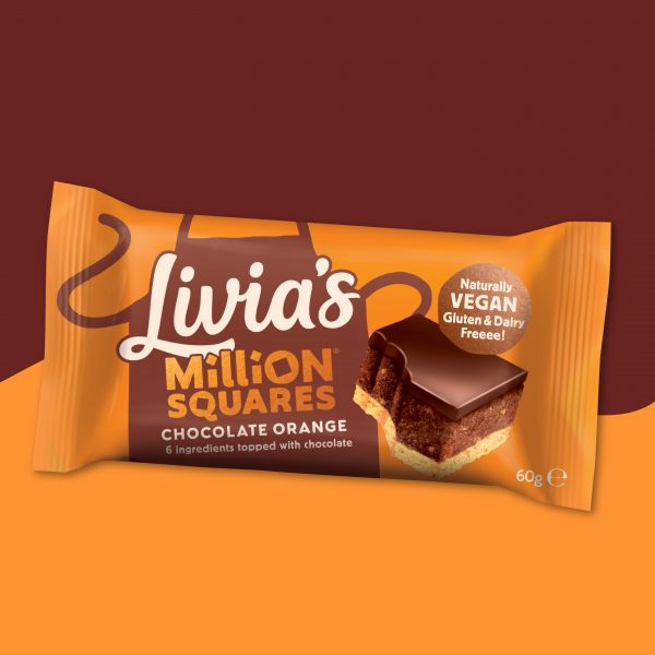 Livia's Chocolate Orange Million Squares BEST BEFORE 30.03.2021