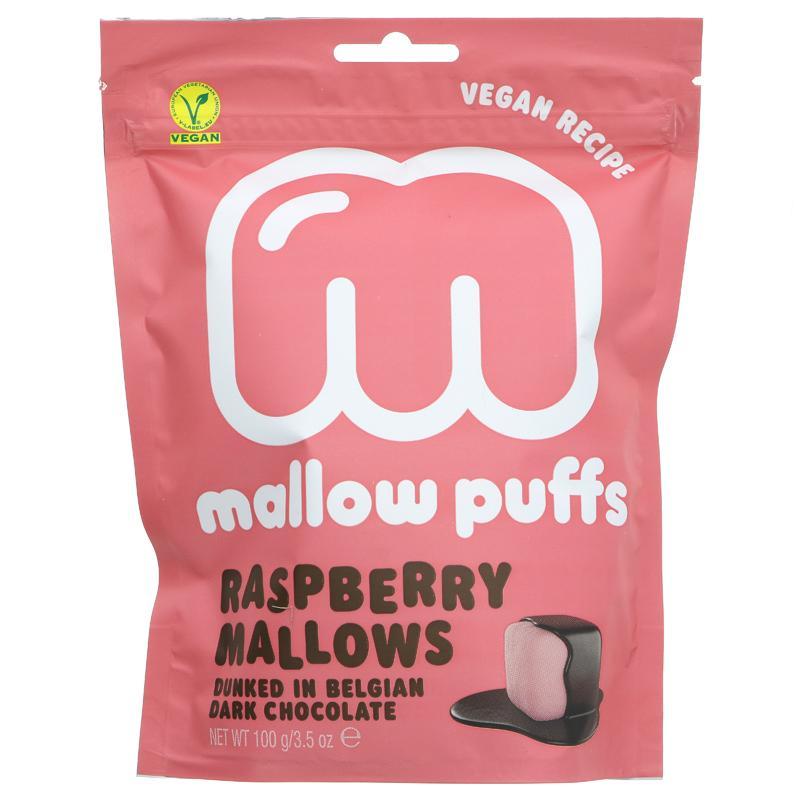 Mallow Puffs Raspberry Mallows Dunked Belgian Chocolate