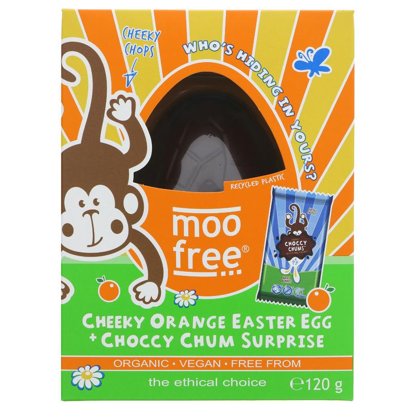 Moo Free Chocolate Cheeky Orange Egg & Choccy Chum Surprise