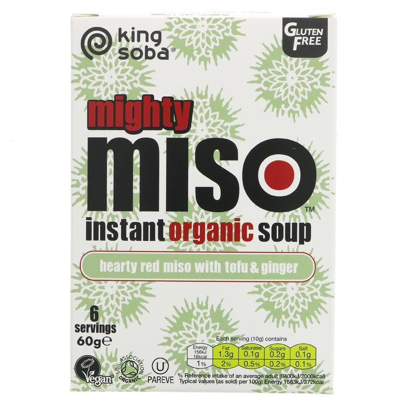 King Soba Instant Organic Red Miso with Tofu & Ginger 6 Servings