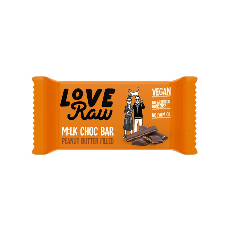 Love Raw Peanut Butter Filled M:lk Chocolate Bar