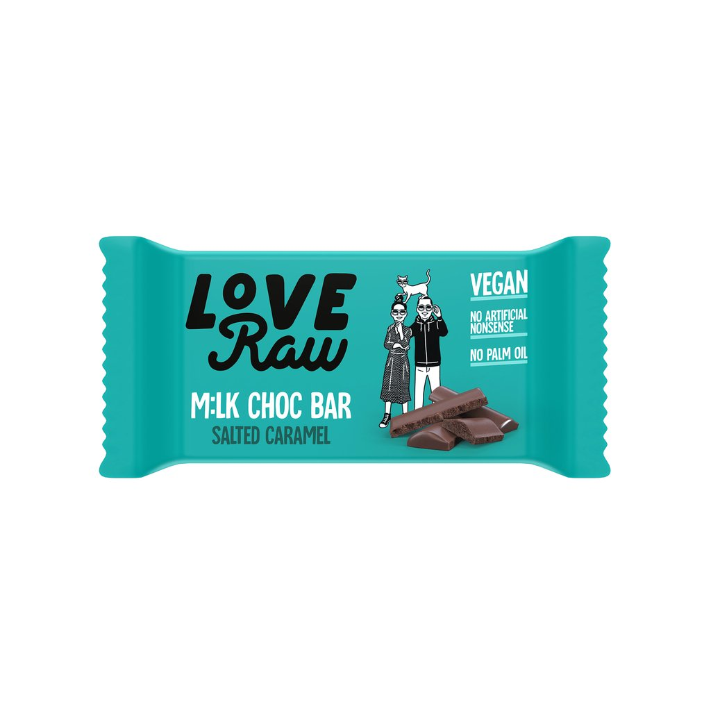 Love Raw Salted Caramel  M:lk Chocolate Bar
