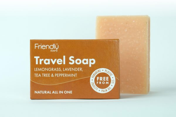 Friendly Soap Travel Soap with Lemongrass, Lavender, Tea Tree & Peppermint