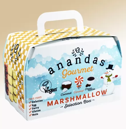 Ananda Festive Marshmallow Selection Box - Coconut, Caramel & Choc Mocha Marshmallows