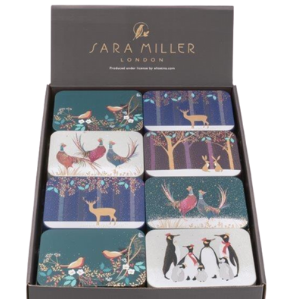 Christmas Theme Sara Miller Gift Tin with Mint Imperials