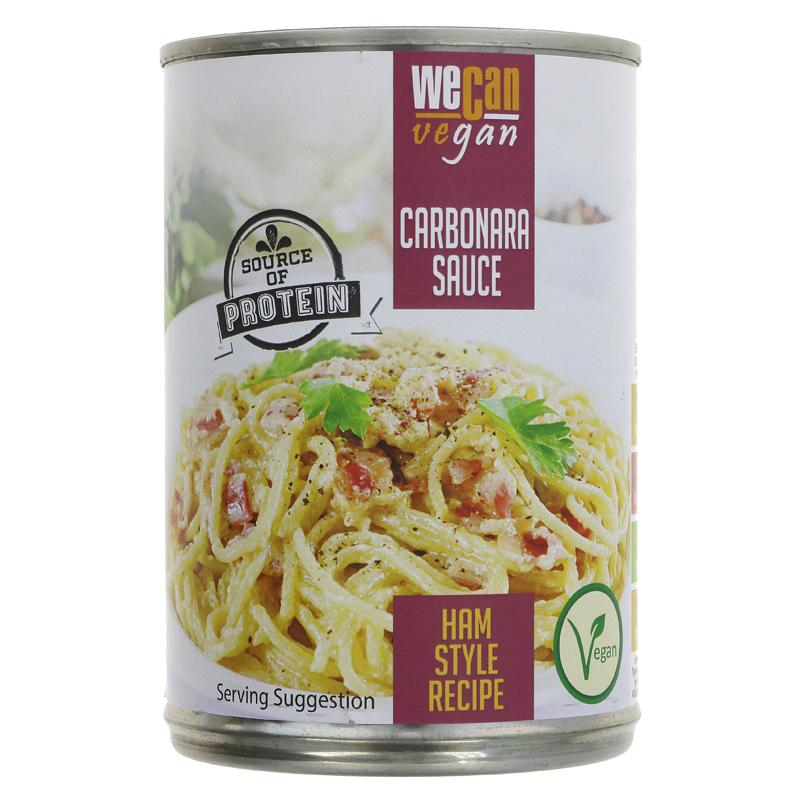 We Can Vegan Carbonara Sauce with Vegan Ham