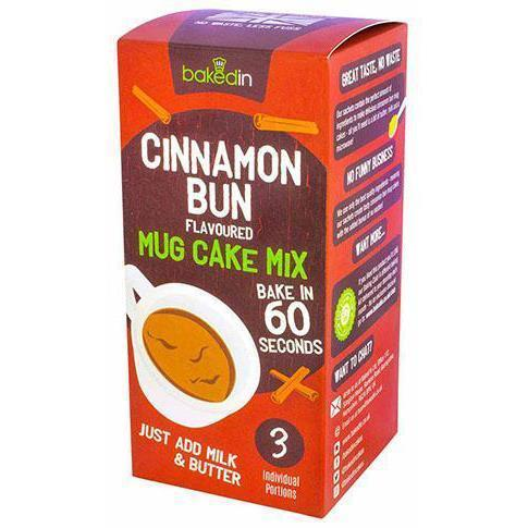 Bakedin Cinnamon Bun Flavoured Mug Cake Mix - Pack of 3