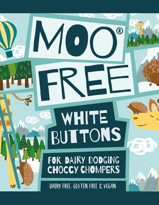 Moo Free White Buttons