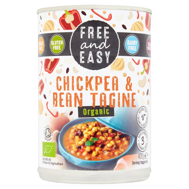 Free & Easy Chickpea and Bean Tagine
