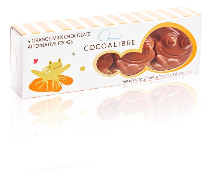 Cocoa Libre Orange Rice Milk Chocolate Frogs 40g