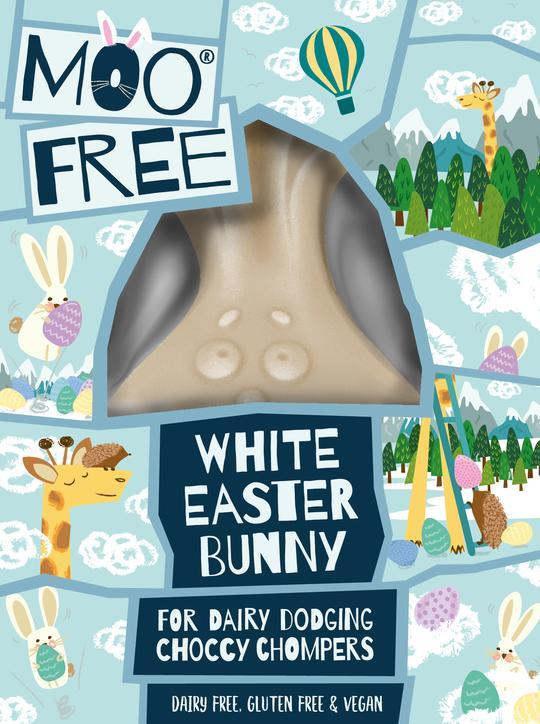 Moo Free White Easter Bunny