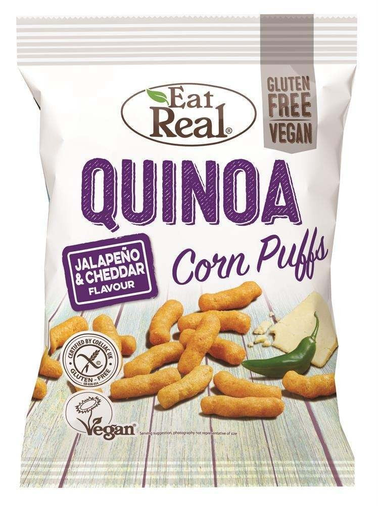 Eat Real Quinoa Corn Puffs Jalapeno and Cheddar