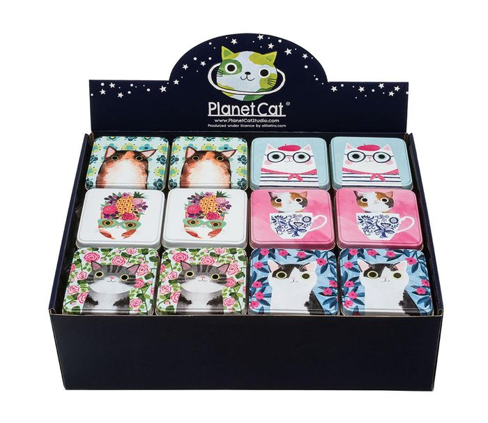 Planet Cat Gift Tin with Mint Imperials