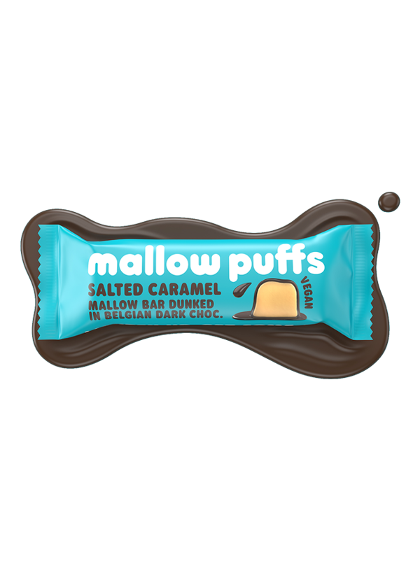 Mallow Puffs Choc Salted Caramel Marshmallow bar