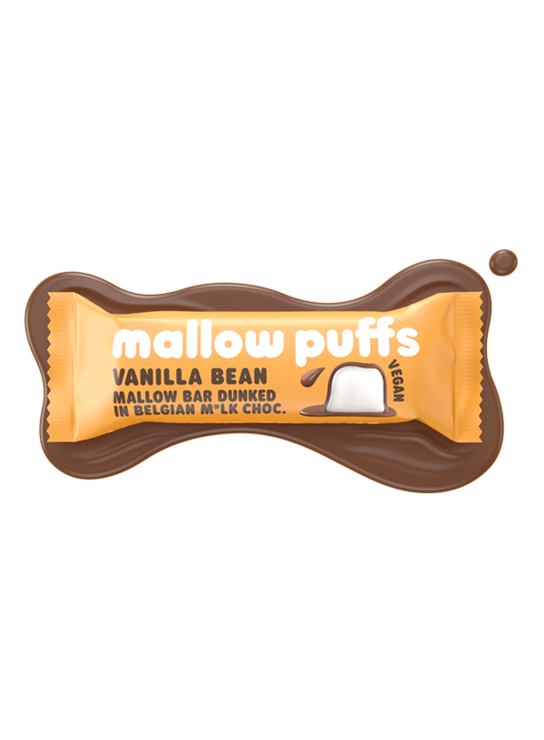Mallow Puffs Choc Vanilla Bean Marshmallow bar