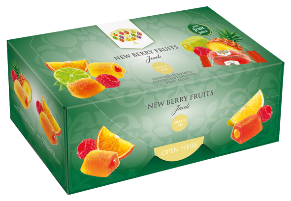 New Berry Fruits Jewels Liquid Filled Jellies 300g Box