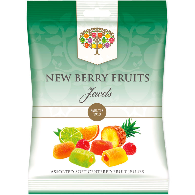 New Berry Fruits Jewels Liquid Filled Jellies