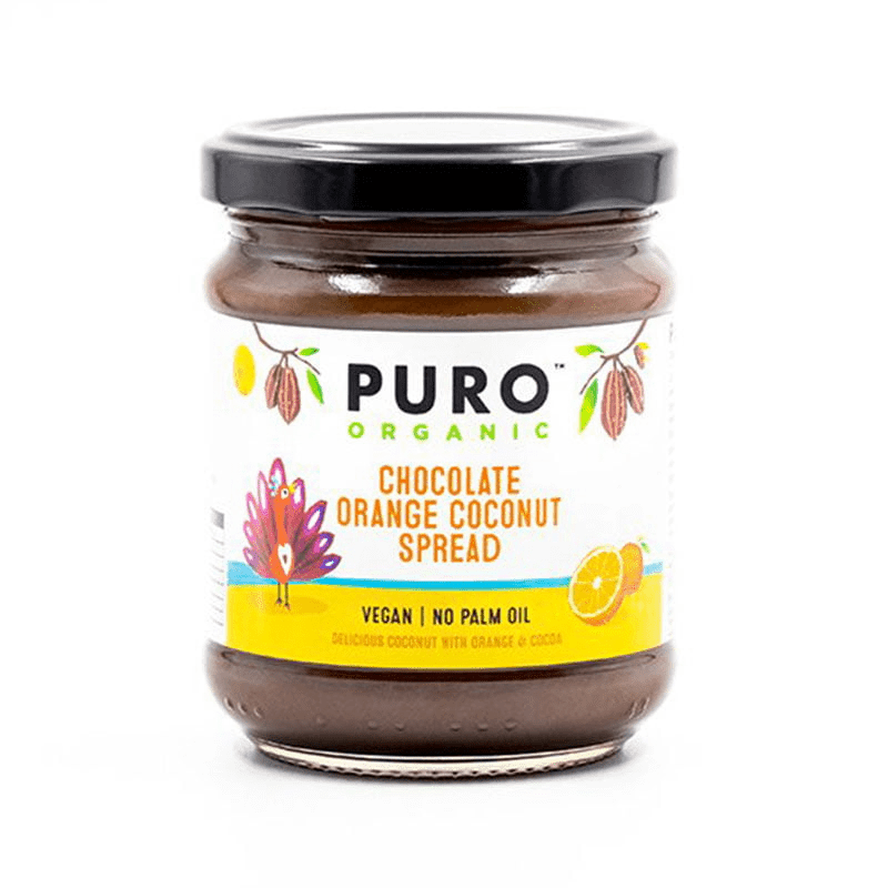Puro Organic Chocolate Orange Coconut Spread 200g