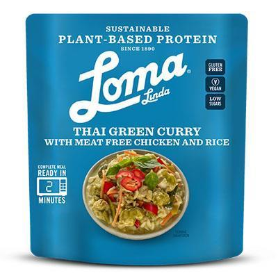 Loma Linda Plant Based Chicken Thai Green Curry Ready Meal