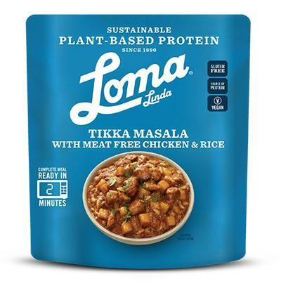 Loma Linda Vegan Chicken Tikka Masala Bowl Ready Meal
