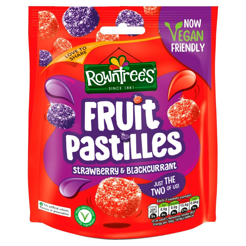 Rowntree's Fruit Pastilles Strawberry & Blackcurrant 150g