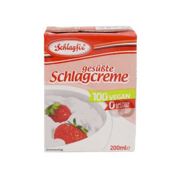Schlagfix Whipping Cream Sweetened BEST BEFORE 04/02/2021