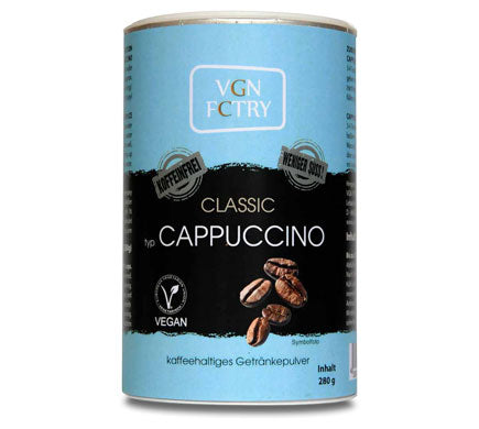 VGN FCTRY Cappuccino Mix Decaffeinated Reduced Sugar