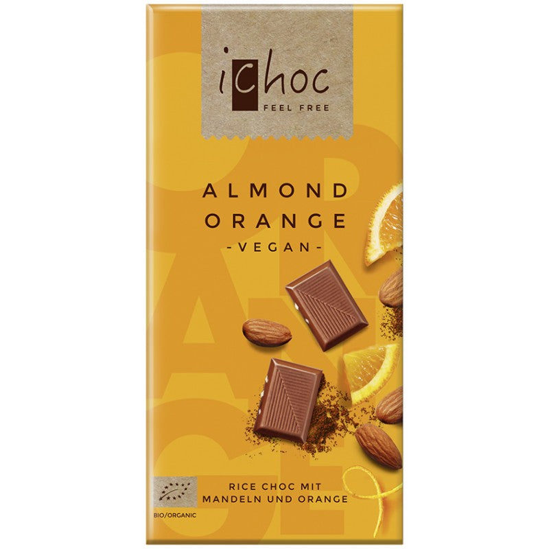 Vivani iChoc Organic Almond Orange Milk Chocolate