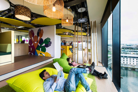 Google Office 2018 trends. Employee chill area