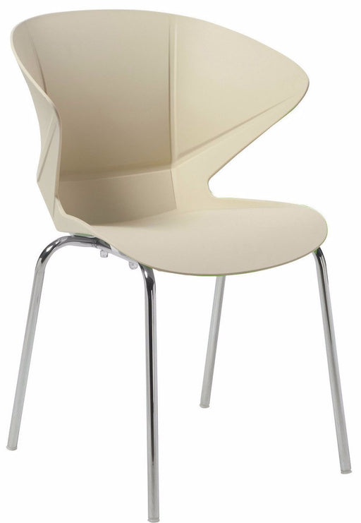 CAPPUCCINO Stylish Lightweight Breakout Cafeteria Seating Chair (Pair)