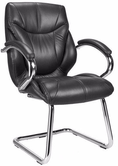LEICESTER-C Luxurious Leather Visitors Meeting Office Chair