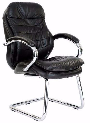 SOUTHWARK-C  Stylish Leather Visitors Meeting Office Chair