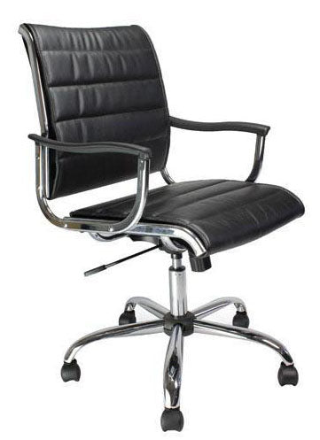 KNIGHTSBRIDGE Modern Leather Effect Office Chair