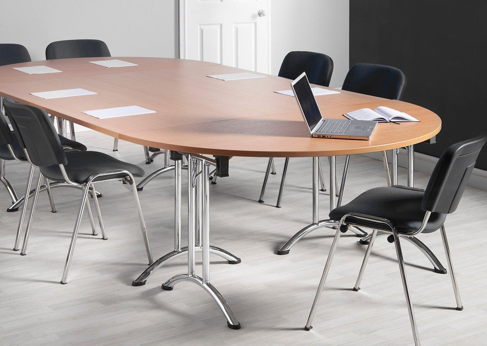Aspire Semi Circular Folding Office Meeting Table British Office - Semi circle conference table