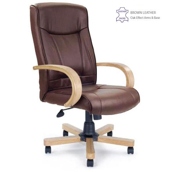 edgware high back executive office chair available in leather and