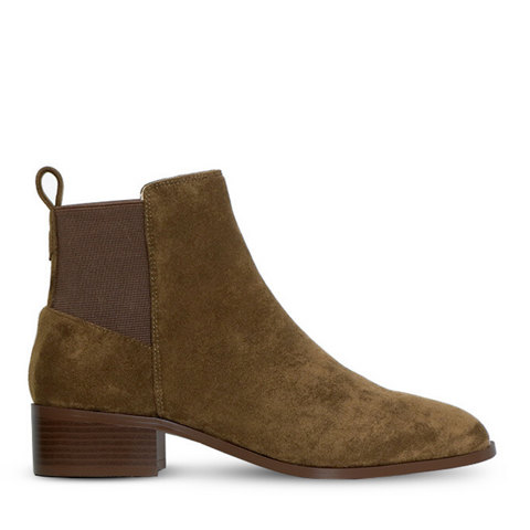 Aniston Boot - Olive Suede