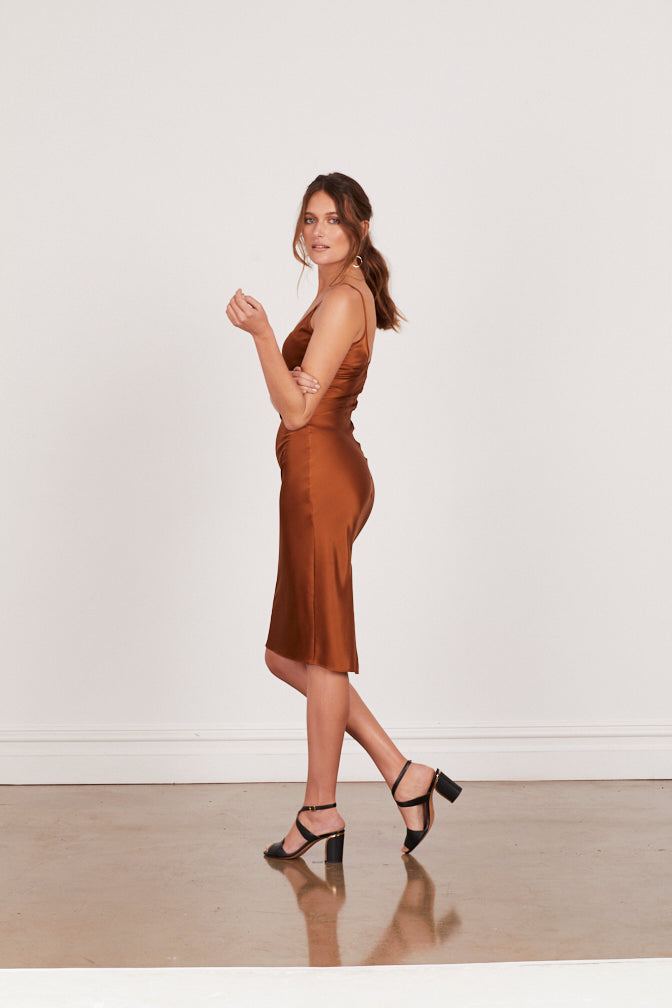 DAHLIA SILK SLIP - COPPER