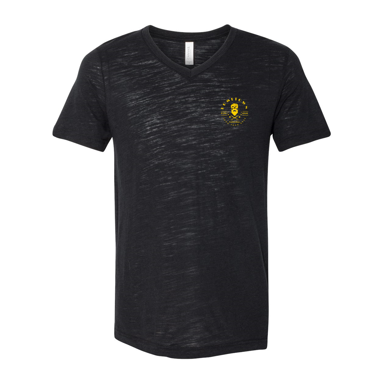 Barbershop Black V-Neck Jersey Tee