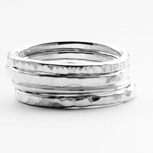 Cruach - Sterling silver stacking rings set £35-£45