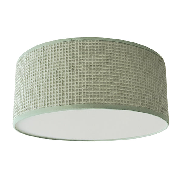 Plafondlamp wafelstof | old green