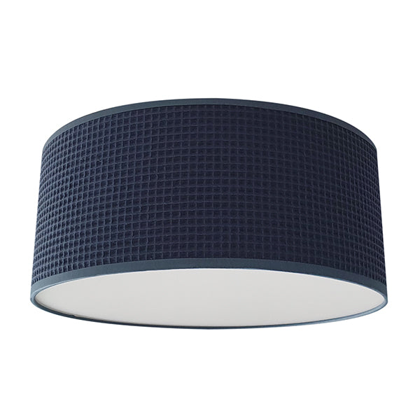 Plafondlamp Wafelstof | donker oud blauw - HelloBaby.be